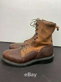 Red Wing Shoes Men's Brown Leather Steel Toe Lace up Boots Size 11.5