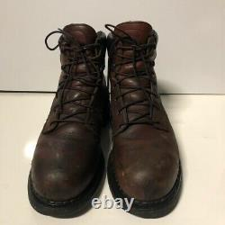 Red Wing Shoes Mens 2226 Work Safety Boots Brown Leather Lace Up Steel Toe 11 D