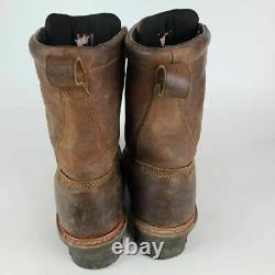 Red Wing Shoes Mens Loggermax Work Safety Boots Brown Lace Up Steel Toe 8