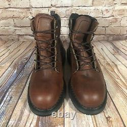 Red Wing Shoes Steel Toe 6 Work Boots Mens Size 8 DynaForce Brown Leather 2226