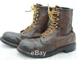 Red Wing Shoes USA Steel Toe Mens Sz 9.5 Oiled Leather Work Hunting Boots