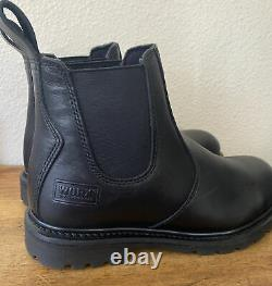 Red Wing Shoes WORX 5424 Steel Toe Work Leather Slip On Boots Men Size 9 WIDE