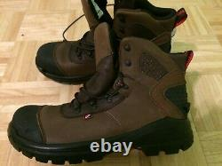 Red Wing Shoes Work Boots ASTM steel toe Leather made in USA size-12wide-E2 NWT