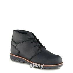 Red Wing Shoes Worx Boots Size 9.5 W2 Model 5407 Black Steel Toe Electrical