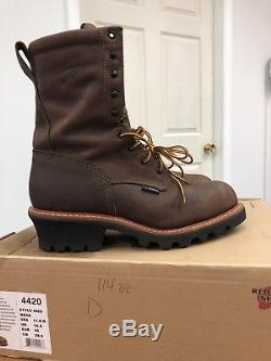 Red Wing Steel Toe Waterproof Logger Boots 4420 D 11.5