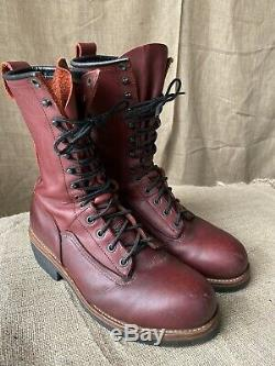 Red Wing Steel Toe Work Boots 2221 Red Cranberry 9.5D Made in USA Rare Nice