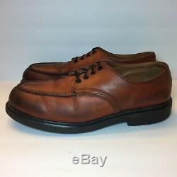 Red Wing Vintage 90's Postman Brown Leather Oxford Steel Toe Shoes Size 11.5 D