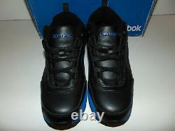 Reebok Size 8 Wide W Mens RB4830 Steel Toe Black/Blue EH Athletic Work Shoes NEW