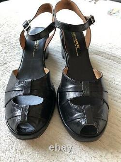 Remix Vintage Pleated Toe Shoes Brand New Size UK8 (10 US) 40s 50s Leather