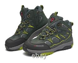 Safety Shoes Sneakers F-603 Zip Work Boots Steel Toe US 6-11 Khaki Korea Safety