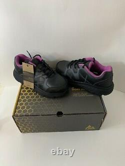 Safety Steel Toe Shoe Ace Work Boots Womens size 7.5- Black Style 72303