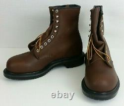 Size 9 Red Wing Shoes 2233 SuperSole 8 Lace-Up Steel Toe Boots Brown