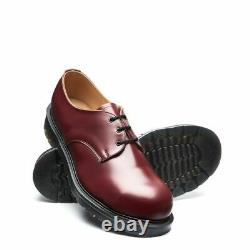 Solovair Made in England 3 Eye Cherry Red Steel Toe Gibson Shoe S105A-3-38-CR-01