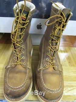 Thorogood Men's 8 Steel Toe Boots 804-4378 Size 10 D