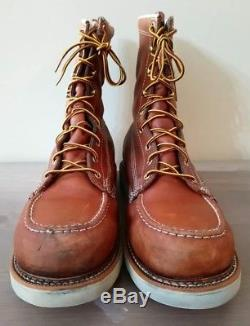 Thorogood Mens American Heritage 8 Moc Toe Boots Size 12 D Steel Toe 804-4208