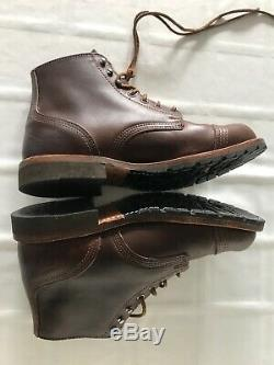 Thorogood Mens Size 8 Leather Boots With Vibram Sole Brown TS0