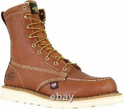 Thorogood Shoes Mens 8 moc toe wedge Steel toe, Tobacco Oil-tanned, Size 10.5