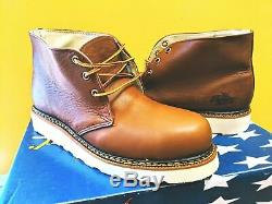 Thorogood Work Boots Steel Toe Safety Shoes 804-4513 Wedge Bottom Iron Worker