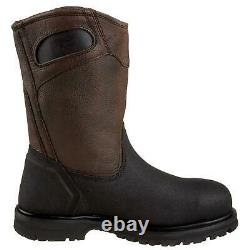 Timberland Men's Shoes Powerwelt Steel toe Pull On, Rancher Brown, Size 14.0