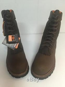 Timberland Pro Rip Saw Logger Work Boots 9 Steel Toe WP