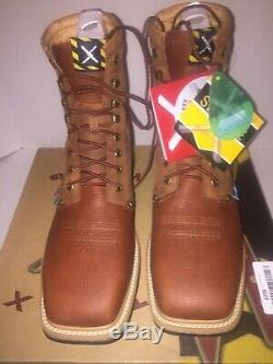 Twisted X Men's Lite 8 Lace-up Waterproof Steel Toe Oiled Rust Work Boot Size10