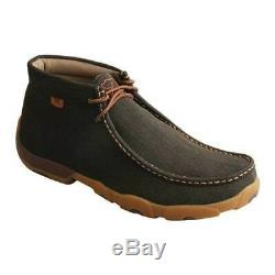 Twisted X Men's MDMST03 Steel Toe Driving Moc Chukka Rubberized Brown Leather