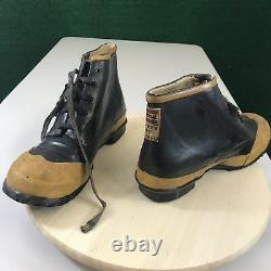UNIROYAL Fireman Shoes Black Yellow Steel Toe Firefighter Boots Men's Safety 8M