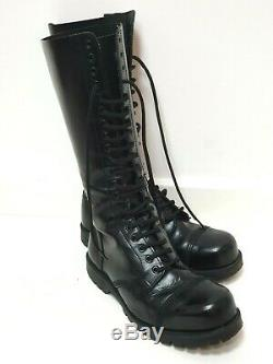 Underground Shoes Brand 20 Eyelet Steel Toe-capped Boots Size 8