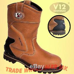 V12 Tomahawk Waterproof Rigger Boots Work Safety Thinsulate Lined V1250 Uk 6-13