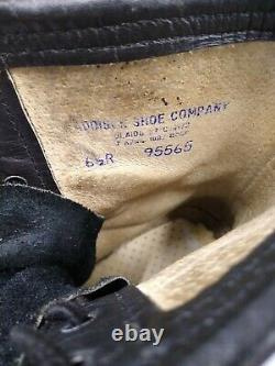 VINTAGE Combat Boots Mens 6.5R Addison Shoe Co 1987 Military Steel Toe Boot