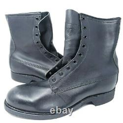 VINTAGE Combat Boots Mens 8.5 R Addison Shoe Co 1987 Military Steel Toe Boot