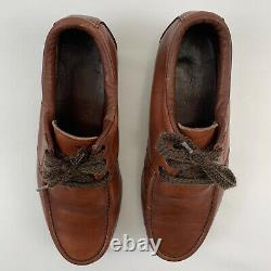 VTG Red Wing Shoes Brown Leather Mock Steel Toe Chukka Boots Shoe Mens Sz 9 9EE