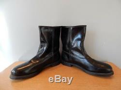 Vintage 1970s Knapp Good Year Black Leather Boots Steel Toe Engineer Roper Men 9