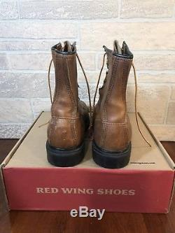 Vintage 90s RED WING 8 inch 2233 Steel Toe Lace-Up Work Boots 10.5 D Made in USA