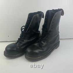 Vintage Dr Martens Leather Steel Toe Cap Boots 11 Eyelet Size 6 Made In England