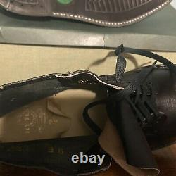 Vintage Hy-Test Steel Toe Leather Safety Work Boots Shoes 9 E Anchor Flange