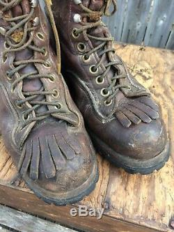 Vintage ROCKY MOUNTAIN BOOTS Logger Work Boot Estimated Size 9-9.5 Made In USA