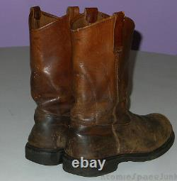 Vintage Red Wing Motorcycle Boots Safety Steel Toe Leather Riding Pecos Size 9 D