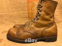 Vintage Red Wing RARE Ankle Boots Iron Ranger Cap Toe Steel Toe Size 7.5 D