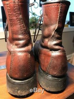 Vtg Red Wing Shoes Boots Harness Tall Work Oil Resistant Safety Toe Sz 9 912