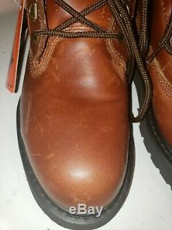 WORX by Red Wing Shoes Men's 5482 Brown Waterproof Steel Toe Logger Size 8 NWT