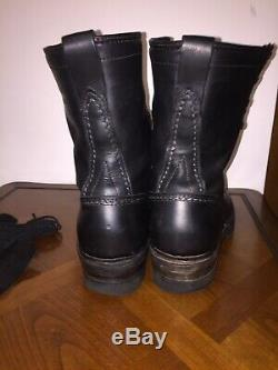 Wesco Jobmaster Military Steel Toes 10 Boots Mens Sz 10E Black Leather