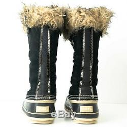 Womens Sorel Joan Of Arc Tall Winter Boots SZ 7 EUR 38 Black Suede nl 1540-010