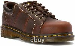Womens US Size 6 Doc DR MARTENS MILA Steel Toe Safety Brown Shoes UK 4 EU 37