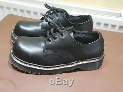 Womens Vintage DR MARTENS Steel Toe Capped SHOES UK 5. Black. Made in ENGLAND