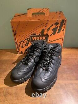 Worx 5501 Redwing Mens Mid Black Leather Steel Toe Work/Safety Shoes Size 13M